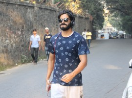 Photos of Bollywood actor Harshvardhan Kapoor spotted walking in juhu.