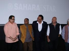 Singer Sapna Mukherjee, Rakesh Roshan, Filmmaker Ramesh Taurani, Ramesh Sippy during the launch of preview theatre Cinetheque in Mumbai on Nov 29, 2016.