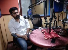 Photos of Tamil actor Vijay Antony promotes Saithan movie at Radio City.