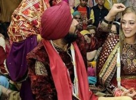 Yuvraj Singh and Hazel Keech's wedding pictures.