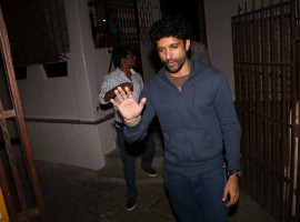 Photos of Bollywood actor Farhan Akhtar spotted at Bandra in Mumbai.