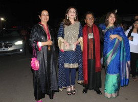 Sculptor Satish Gupta with Nita Ambani, Chairperson and Founder, Reliance Foundation during the inauguration of his show The Silent Eternity, in Mumbai, on Nov 29, 2016.
