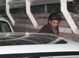 Photos of Bollywood actor Shah Rukh Khan spotted at Karim Morani's house.