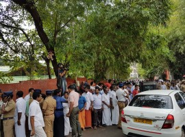 Normal life was not affected in Tamil Nadu on Monday after the hospital sources said Chief Minister J. Jayalalithaa had suffered a cardiac arrest on Sunday evening. Educational institutions and offices functioned as usual and state transport buses were operated.