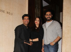 Photos of Aishwariya Rai and Abhishek Bachchan and others spotted at Manish Malhotra Birthday party.