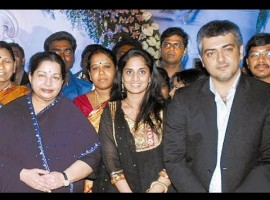 Jayalalithaa with Ajith.