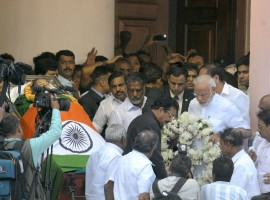 Prime Minister Narendra Modi has landed in Chennai to pay his last respect to Chief Minister Amma.