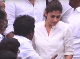 South Indian actress Nayanthara pays her last respect to Puratchi Thalaivi Jayalalithaa.