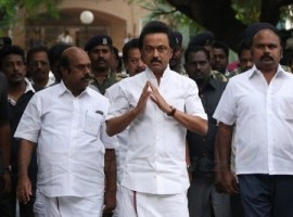 MK Stalin pays homage to Cho Ramaswamy.
