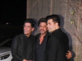 Photos of Bollywood actor Shah Rukh Khan at Manish Malhotra's 50th birthday bash.