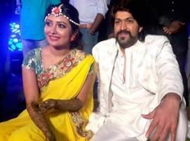 Photos of Yash and Radhika Pandit's mehndi ceremony.