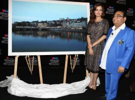 Photos of Bollywood actress Dia Mirza during the inauguration of Dr Batra's photo exhibition Magic Moments, in Mumbai, on December 6, 2016.