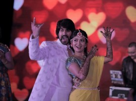 Photos of Yash and Radhika Pandit's mehndi ceremony.