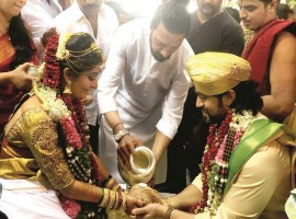Sudeep at Yash and Radhika Pandit's wedding.