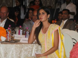 Photos of Bollywood Actress Katrina Kaif during the WeUNITE conference on gender equality and violence against women organised by UN Women in Mumbai on Dec 7, 2016.