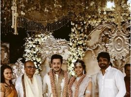 Akhil Akkineni and Shriya Bhupal's Engagement pictures.