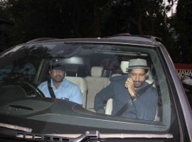 Photos of Bollywood actor Farhan Akhtar spotted at Shankar Mahadevan's studio.