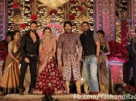 Yash and Radhika Pandit's wedding reception pictures.