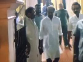 Superstar Rajinikanth met former Chief Minister of Tamil Nadu Karunanidhi at his Gopalapuram residence.