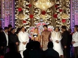 Yash and Radhika Pandit's wedding reception pictures.