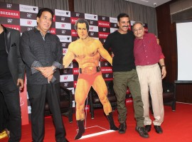 Bollywood actor Akshay Kumar launches Dara Singh's biography DeeDara on the wrestler's 88th birthday.