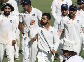 India thrashed England by an innings and 36 runs in the fourth Test here on Monday to claim an unassailable 3-0 lead in the five-match series. England were bowled out for 195 in the morning session of the fifth day, after resuming on the overnight 182/6 in their second innings, and still trailing by 49 runs.