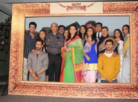 Television actors like Jitendra Trehan, Suchitra Pillai, Ankita Sharma, Prachi Shah, Aashika Bhatia, Shweta Mahadik, Vikas Jain, Sangeita Chauhan, Akshaya Bhingarde and Karan Singhmar spotted during the launch of television serial, Ek Shringaar Swaabhimaan in Mumbai.