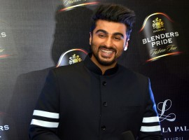 Actor Arjun Kapoor during the Blenders Pride Fashion tour in Bengaluru on Dec 18, 2016.