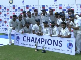 India on Tuesday clinched the five-match cricket Test rubber 4-0 after thrashing England by an innings and 75 runs in the fifth and final match at the M.A. Chidambaram Stadium here.
