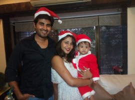 Actress Amrapali Gupta, who welcomed her son Kabir with Yash Sinha earlier this year, got a Christmas surprise from her husband. He made the festive season