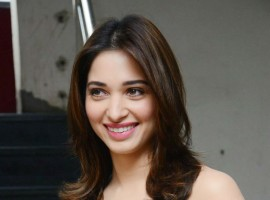 South Indian actress Tamannaah Bhatia promotes Okkadochadu movie.