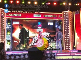 Kannada movie Hebbuli audio launch event held today at Davangere. Actor Kiccha Sudeep and Ravichandran graced the event.