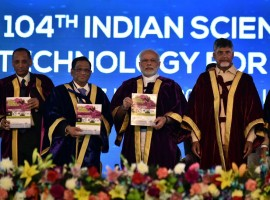 PM Narendra Modi at Inauguration of 104th Session of Indian Science Congress, Tirupati.