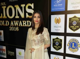 Aishwarya Rai spotted during the 23rd SOL Lions Gold Awards in Mumbai, India on January 4, 2017.