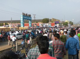 Crowd at Chiranjeevi's Khaidi No 150 pre-release function.
