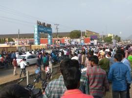 Crowd at Chiranjeevi's Khaidi No 150 pre-release function.