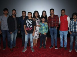 Bollywood actors Pawan Tiwari, Dharmendra, Gaurishankar, Ishaan Kaurav, Mohmmad Saud, Neelima Azeem, Manoj Bajpayee, Bhavna Pani and filmmaker Zaigham Imam during the trailer launch of film Alif in Mumbai, India on January 10, 2017.
