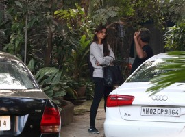 Bollywood actress Sonam Kapoor spotted at R Balki's Office.