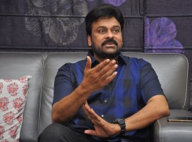 Megastar Chiranjeevi at telugu movie Khaidi No 150 Interview in Hyderabad.
