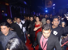 Bollywood actor Ranveer Singh and actress Deepika Padukone at xXx: Return of Xander Cage special screening.