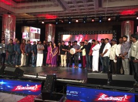 Tamil movie Shivalinga audio launch event held in Chennai. Celebs like Sivakarthikeyan, Raghava Lawrence, Ritika Singh, Vadivelu, Prabhu, AL Alagappan, Sakthi, Vijay Yesudas, SS Thaman, Dhivyadharshini and others graced the event.