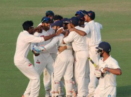 Gujarat clinched their maiden Ranji Trophy title as they rode on captain Parthiv Patel's stupendous 143 to beat record champions Mumbai by five wickets on the final day here on Saturday.