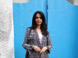 Photos of Bollywood actress Mallika Sherawat spotted at Olive Restaurant and Bar in Bandra.