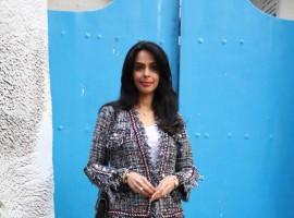 Photos of Bollywood actress Mallika Sherawat spotted at Olive Restaurant and Bar in Bandra.