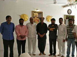 TN Producers & Directors council members meet Superstar Rajinikanth for MGR100 birthday function.