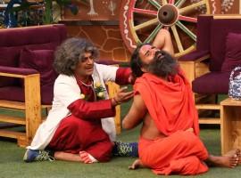 Yoga Guru Baba Ramdev promotes patriotism on Kapil Sharma's show.