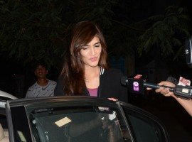 Bollywood actress Kriti Sanon spotted at PVR Juhu in Mumbai.
