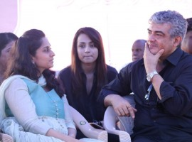 Nadigar Sangam Jallikattu protest: Thala Ajith and Shalini attendees