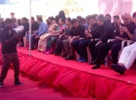 Celebs like Dhanush, KS Ravikumar, Sivakumar at Nadigar Sangam Jallikattu protest.