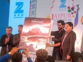 Actor Rana Daggubati and director SS Rajamouli at Baahubali book launch